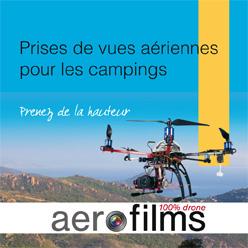 Prises de vues aériennes pour les campings